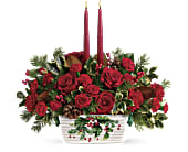 Teleflora's Holly Glow Centerpiece in San Clemente CA, Beach City Florist