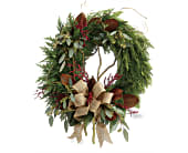 Rustic Holiday Wreath in San Clemente CA, Beach City Florist