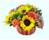 Fall Pumpkin  in Detroit and St. Clair Shores MI, Conner Park Florist