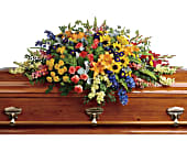 Colorful Reflections Casket Spray, picture