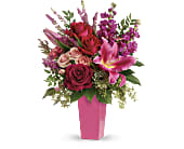 Forever Fuchsia Bouquet in Beaumont TX, Blooms by Claybar Floral