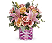 Teleflora's Pink Breeze Bouquet in Beaumont TX, Blooms by Claybar Floral