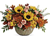 Teleflora's Autumn Sunbeams Centerpiece, picture