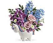 Teleflora's Enchanting Pastels Unicorn Bouquet, picture