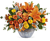 Teleflora's Golden Bounty Centerpiece, picture