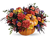 Teleflora's Hauntingly Pretty Pumpkin Bouquet, picture
