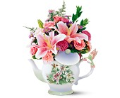 Teleflora's Lena Liu Hummingbird Teapot Bouquet in New Britain CT, Weber's Nursery & Florist, Inc.