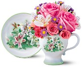 Teleflora's Lena Liu Hummingbird Teacup Bouquet in New Britain CT, Weber's Nursery & Florist, Inc.