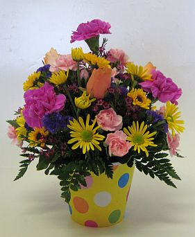 PAIL ARRANGEMENT in Salisbury MD, Kitty's Flowers