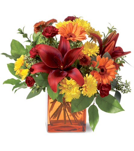 Teleflora's Autumn Awe in Oklahoma City OK, Array of Flowers & Gifts
