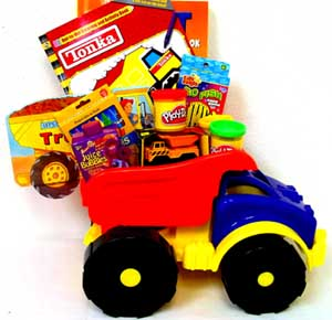 GB170 ''Tonka Truck'' Gift Basket in Oklahoma City OK, Array of Flowers & Gifts