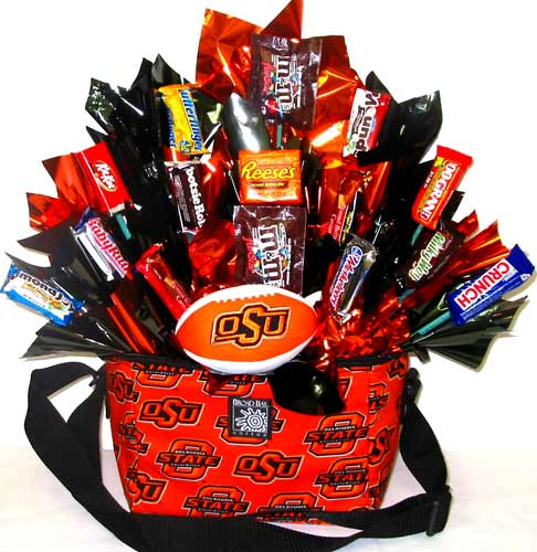 CBOSU8 ''OSU Treats'' Gift & Candy Bouquet in Oklahoma City OK, Array of Flowers & Gifts
