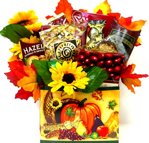 ''Fall Harvest'' Gourmet Basket in Oklahoma City OK, Array of Flowers & Gifts