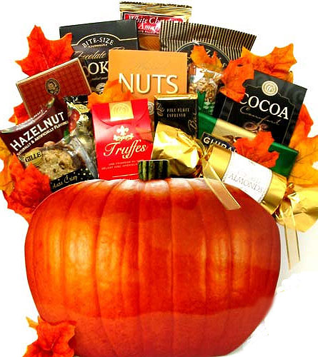 ''Celebrate Fall'' Gourmet Basket in Oklahoma City OK, Array of Flowers & Gifts