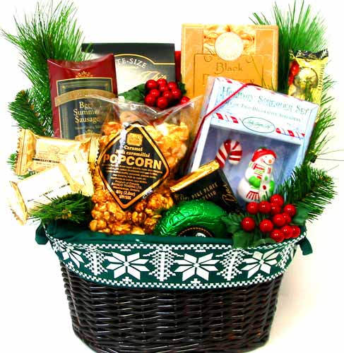XGF103 ''Season's Trimmings'' Gourmet Basket in Oklahoma City OK, Array of Flowers & Gifts