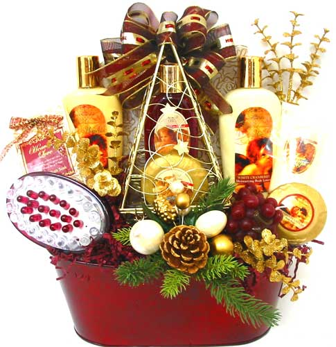 HGB2487 ''Angels Among Us'' Gift Basket in Oklahoma City OK, Array of Flowers & Gifts