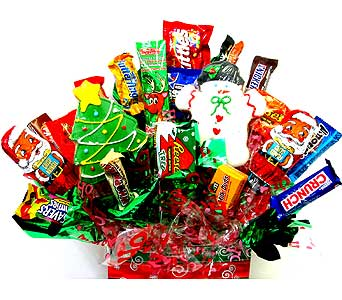 HCB2504  ''Holiday Treats'' Candy/Cookie Bouquet in Oklahoma City OK, Array of Flowers & Gifts