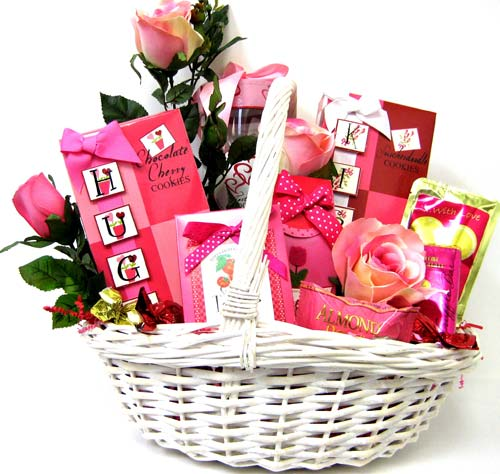VGF40 ''Hugs & Kisses'' Gourmet Food Basket in Oklahoma City OK, Array of Flowers & Gifts