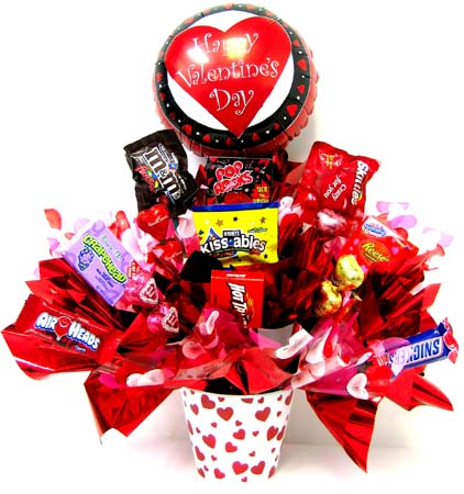 VCB51 ''Sweet Valentine'' Candy Bouquet in Oklahoma City OK, Array of Flowers & Gifts