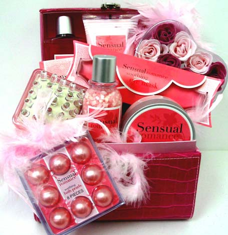 GB233 ''Romantic Sensations'' Bath & Body Gift Set in Oklahoma City OK, Array of Flowers & Gifts