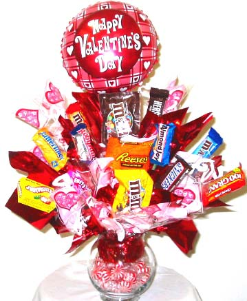 VCB84 ''Sweet Treats'' Valentines Candy Bouquet in Oklahoma City OK, Array of Flowers & Gifts