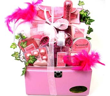 GB230 ''Sensual Romance'' Bath & Body Gift Basket in Oklahoma City OK, Array of Flowers & Gifts