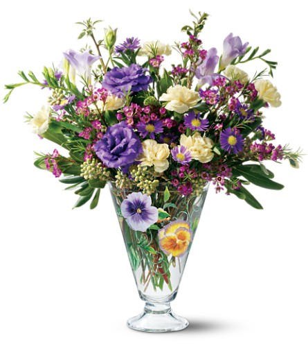 Teleflora's Painted Pansy Bouquet in Bellevue PA, Dietz Floral & Gifts