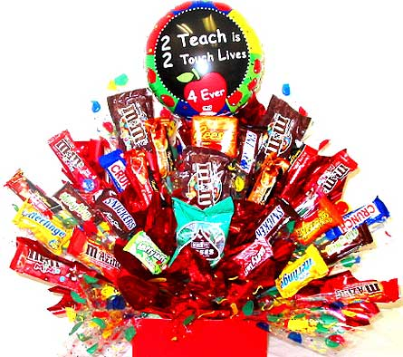 CB157 ''Teachers Touch Lives'' Candy Bouquet in Oklahoma City OK, Array of Flowers & Gifts
