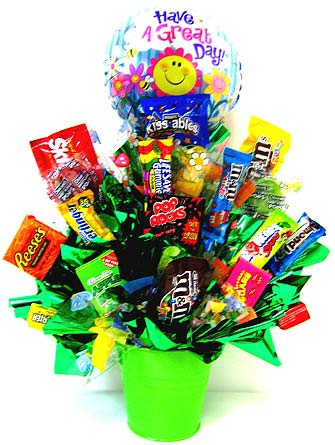 CB211 ''Happy Days'' Candy Bouquet in Oklahoma City OK, Array of Flowers & Gifts