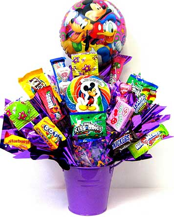 CB233 ''Mickey Mouse & Friends'' Candy Bouquet in Oklahoma City OK, Array of Flowers & Gifts