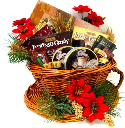 XGF124 ''The Smell of Coffee'' Gourmet Gift in Oklahoma City OK, Array of Flowers & Gifts