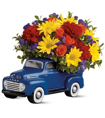 Teleflora's '48 Ford Pickup Bouquet in Moorhead MN, Country Greenery