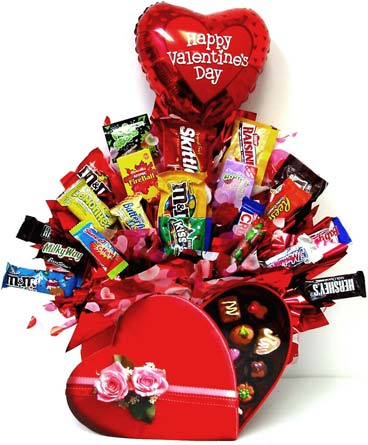 VCB94 ''Valentine Chocolates'' in Oklahoma City OK, Array of Flowers & Gifts