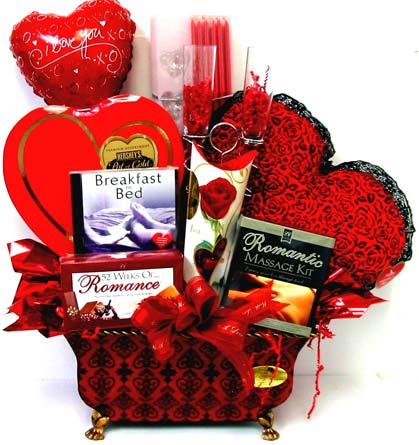 VGB305 ''Hearts on Fire'' Gift Basket in Oklahoma City OK, Array of Flowers & Gifts