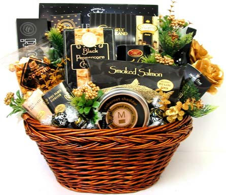XGF121 ''Premium Choice'' Gourmet Food Basket in Oklahoma City OK, Array of Flowers & Gifts