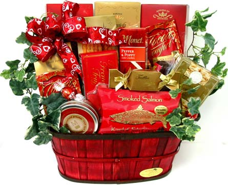 VGF34 ''Temptations'' Gourmet Food Basket in Oklahoma City OK, Array of Flowers & Gifts