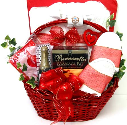 GB280 ''Bath Robe & Slippers'' Romantic Basket in Oklahoma City OK, Array of Flowers & Gifts