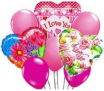 VB68 ''Love is in the Air'' Balloon Bouquet in Oklahoma City OK, Array of Flowers & Gifts