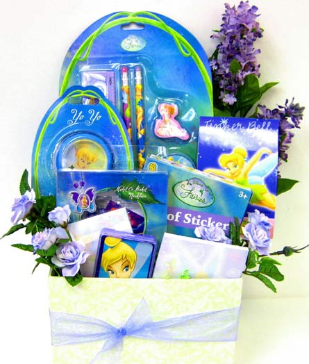 KGB10 ''Tinkerbell'' Gift Basket in Oklahoma City OK, Array of Flowers & Gifts