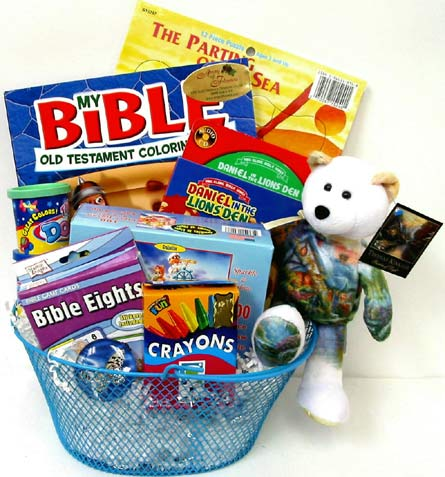 KGB18 ''Bible Play & Learn'' Gift Basket in Oklahoma City OK, Array of Flowers & Gifts