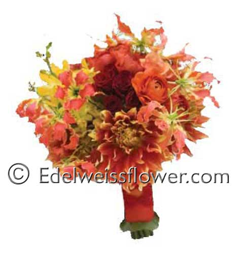 Simply Wonderful Bridal Bouquet in Santa Monica CA, Edelweiss Flower Boutique