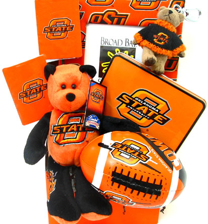 OSU46 ''OSU'' Fanatic'' Gift Basket in Oklahoma City OK, Array of Flowers & Gifts