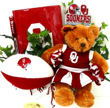 OU38 ''Cheer for OU'' Gift Basket in Oklahoma City OK, Array of Flowers & Gifts