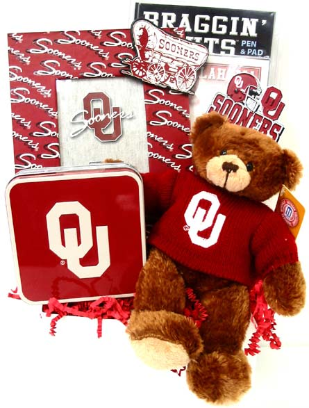 OU39 ''Sooner Pride'' OU Gift Basket in Oklahoma City OK, Array of Flowers & Gifts