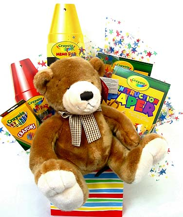 KGB5 ''Crayola Crazy'' Kids Gift Basket in Oklahoma City OK, Array of Flowers & Gifts
