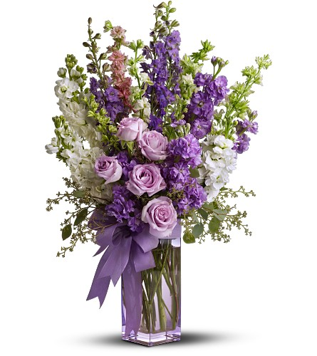 Teleflora's Pretty in Purple in San Clemente CA, Beach City Florist