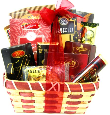 GF72 ''Sweets & Treats'' Gourmet Food Basket in Oklahoma City OK, Array of Flowers & Gifts