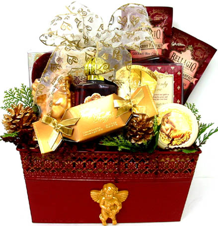 XGB124 ''Pamper Your Angel''  Gift & Gourmet Basket in Oklahoma City OK, Array of Flowers & Gifts