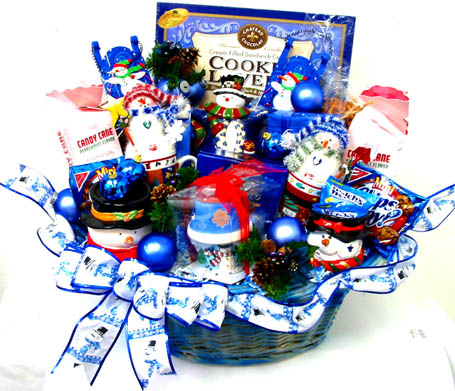 XGB125 ''Frosty & Friends'' Gift & Gourmet Basket in Oklahoma City OK, Array of Flowers & Gifts