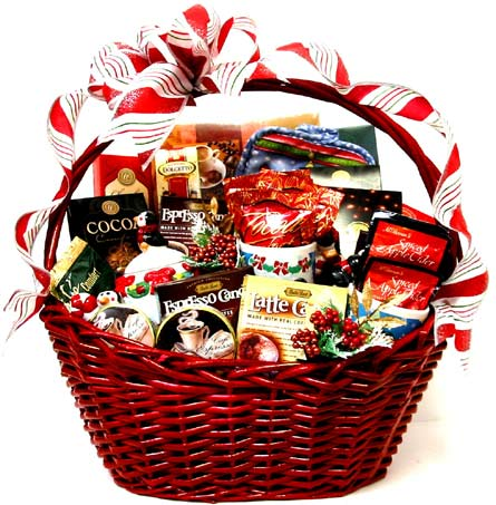 ''Home for the Holidays'' Gourmet Basket in Oklahoma City OK, Array of Flowers & Gifts
